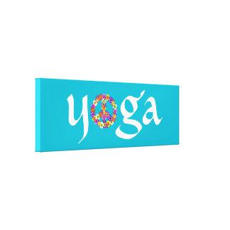 Signo de la paz de la yoga floral lona estirada galerías