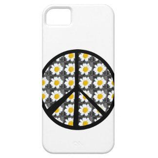 Signo de la paz de las margaritas blancas iPhone 5 cobertura