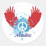 Signo de la paz de Maine Etiqueta Redonda