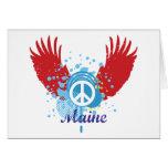 Signo de la paz de Maine Felicitaciones