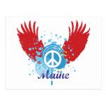 Signo de la paz de Maine Tarjetas Postales