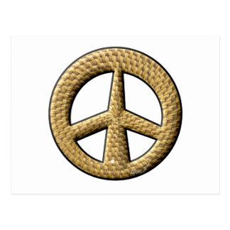 Signo de la paz de mimbre tarjeta postal