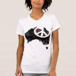 Signo de la paz de moda de Australia con el mapa Camiseta