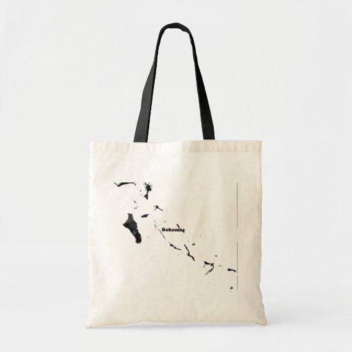 Signo de la paz de moda de Bahamas con el mapa bah Bolsa Tela Barata