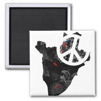 Signo de la paz de moda de Burundi con el mapa bur Imanes Para Frigoríficos
