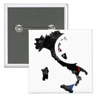 Signo de la paz de moda de Italia con el mapa ital Pins