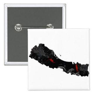 Signo de la paz de moda de Nepal con el mapa nepal Pins