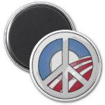 Signo de la paz de Obama Imán Para Frigorifico