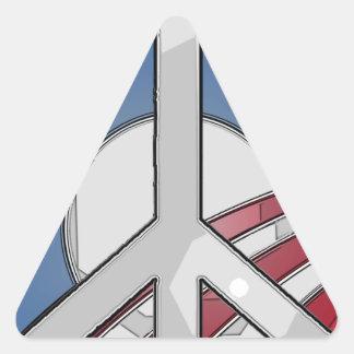 Signo de la paz de Obama Pegatina Triangular
