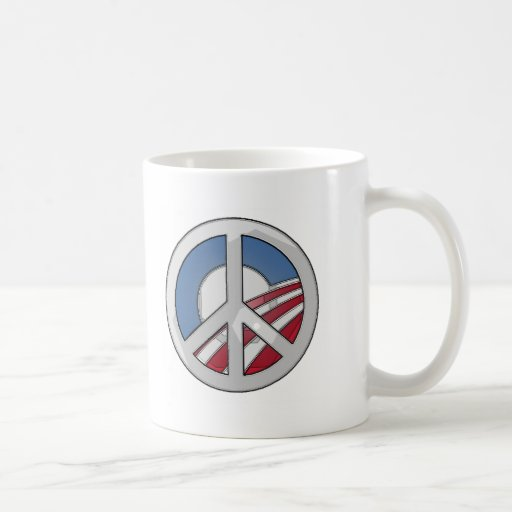 Signo de la paz de Obama Taza De Café