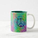 Signo de la paz de Psychadelic Taza De Café