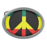 Signo de la paz de Rasta Hebillas Cinturon