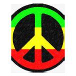 Signo de la paz de Rasta Membrete Personalizado