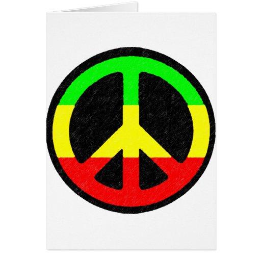 Signo de la paz de Rasta Tarjeta De Felicitación