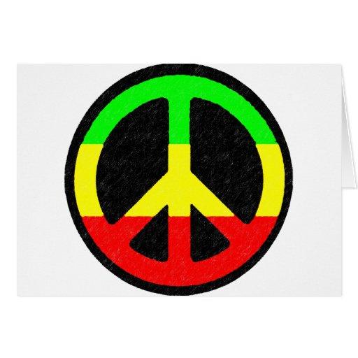 Signo de la paz de Rasta Tarjetón