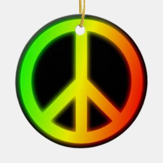 Signo de la paz de Rastafarian Ornato