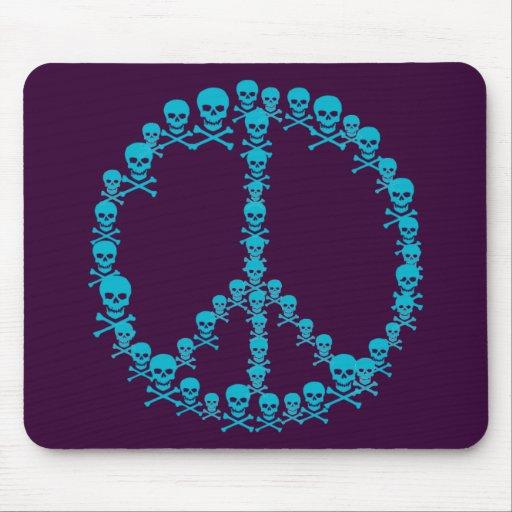 Signo de la paz de Skully Tapete De Ratón