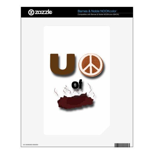 Signo de la paz de U de la mierda Calcomanías Para NOOK Color