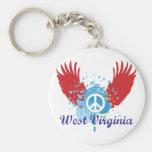 Signo de la paz de Virginia Occidental Llaveros
