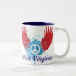 Signo de la paz de Virginia Occidental Tazas