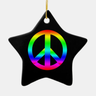 Signo de la paz ornamento de navidad