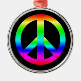 Signo de la paz adornos de navidad
