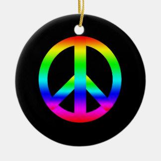 Signo de la paz ornaments para arbol de navidad
