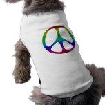 Signo de la paz del arco iris camisa de perrito