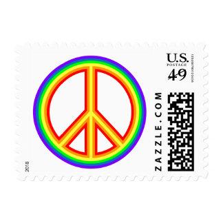 Signo de la paz del arco iris estampilla