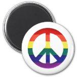 Signo de la paz del arco iris imán de frigorífico