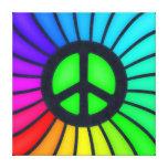 Signo de la paz del arco iris lona estirada galerías