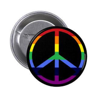 Signo de la paz del arco iris pin