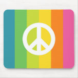 Signo de la paz del arco iris tapetes de ratones