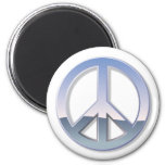 Signo de la paz del cromo imán