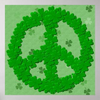 Signo de la paz del día de St Patrick Póster