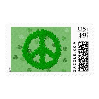 Signo de la paz del día de St Patrick Sellos