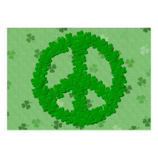 Signo de la paz del día de St Patrick Tarjetas De Visita Grandes