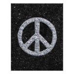 Signo de la paz del diamante plantillas de membrete