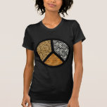Signo de la paz del estampado de animales camiseta