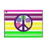 Signo de la paz del flower power del Hippie en ray iPad Mini Fundas
