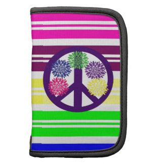 Signo de la paz del flower power del Hippie en ray Planificador