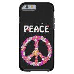 Signo de la paz del flower power funda resistente iPhone 6