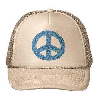 Signo de la paz del flower power gorros
