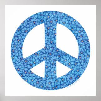 Signo de la paz del flower power posters