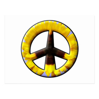 Signo de la paz del girasol postal
