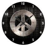 Signo de la paz del Grunge Reloj De Pared