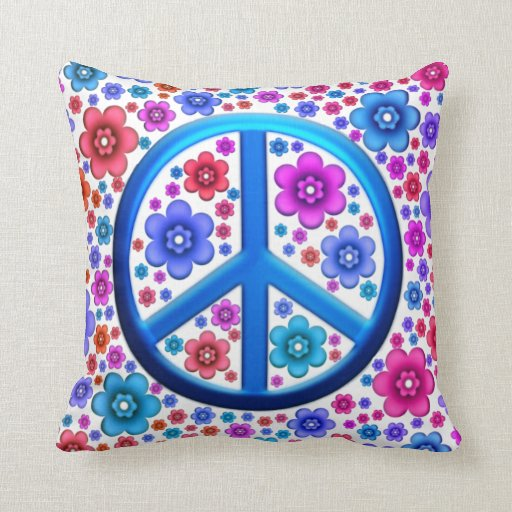 Signo de la paz del Hippie Cojines