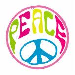 Signo de la paz del Hippie Escultura Fotografica