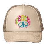 Signo de la paz del Hippie Gorras