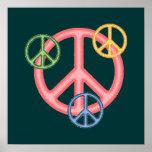 Signo de la paz del Hippie Impresiones